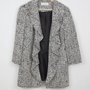 Calvin Klein Ruffle Blazer Jacket Work Career